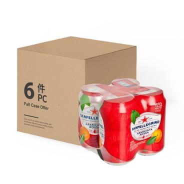 聖沛黎洛 - 有氣血橙菓汁-原箱 - 330MLX4X6