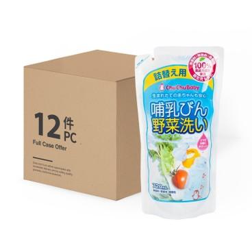 CHUCHUBABY - 嬰兒奶瓶蔬果洗劑(補充裝) - 原箱 - 720MLX12