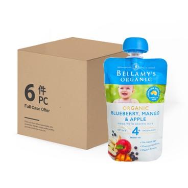 貝拉米 - 有機芒果藍莓蘋果泥 - 原箱 - 120GX6