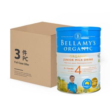 貝拉米 - 有機兒童配方奶粉4號 - 原箱 - 900GX3