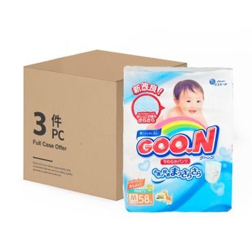 GOO.N大王(香港行貨) - 紙尿褲(中碼) - 原箱 - 58'SX3