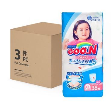 GOO.N大王(香港行貨) - 紙尿褲(女)(加大碼) - 原箱 - 38'SX3