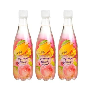 道地 - 百果園微碳酸 -芒果蜜桃 - 500MLX3