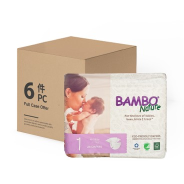 BAMBO NATURE - RASH FREE ECO BABY DIAPERS NB 2-5 KG - CASE - 28'SX6