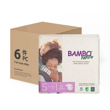 BAMBO NATURE - RASH FREE ECO BABY DIAPERS L 11-25 KG - CASE - 27'SX6