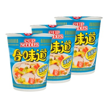 NISSIN - Cup Noodle seafood - 75GX3