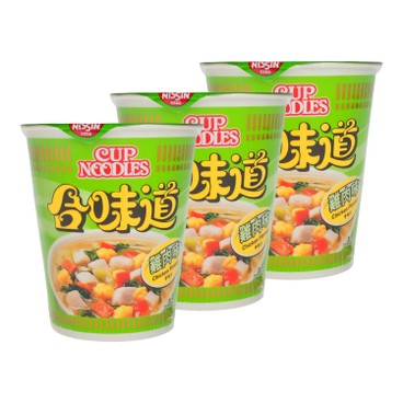 NISSIN - Cup Noodle chicken - 75GX3