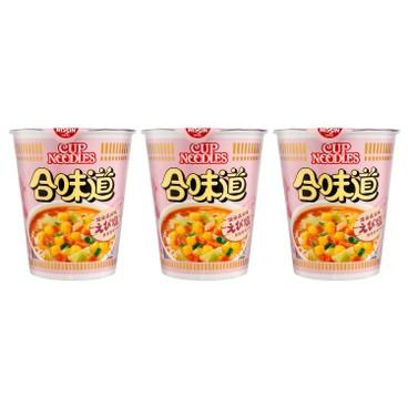NISSIN - Cup Noodle shrimp And Salt Flavour - 75GX3