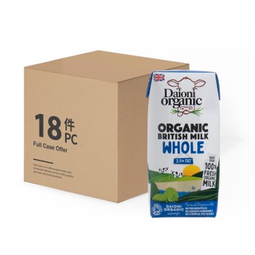 DAIONI 綠牛牛 - 有機全脂奶-原箱 - 200MLX18