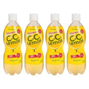 三得利 - C.C. LEMON 有氣檸檬味飲品 - 500MLX4