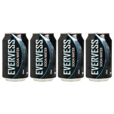 EVERVESS - Soda Water - 330MLX4