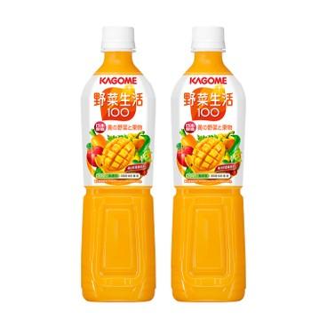 KAGOME - 芒果混合汁 - 720MLX2