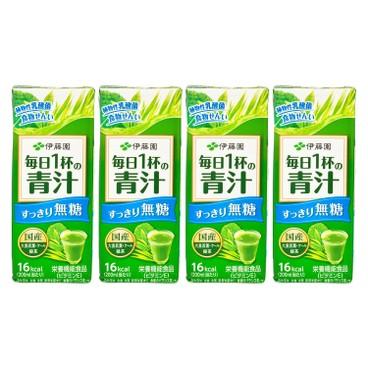 ITOEN - Aojiru Vegetable Juice sugar Free - 200MLX4