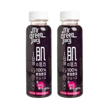 菓蔬先生 - 100% 紫甘藍紅菜頭紅葡萄混合果蔬汁 - 300MLX2