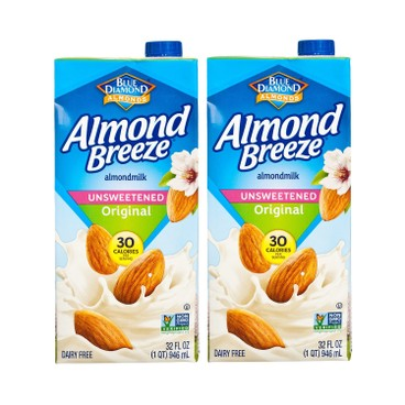 BLUE DIAMOND(PARALLEL IMPORT) - Almond Breeze Unsweetened original - 946MLX2