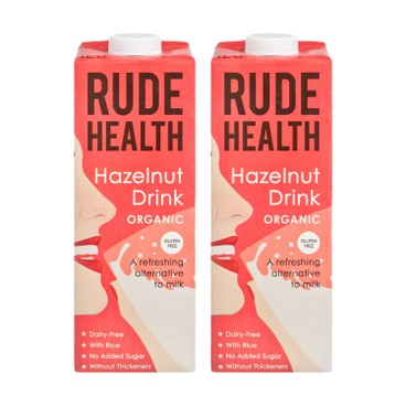 RUDE HEALTH (PARALLEL IMPORT) - Organic Hazelnut Drink - 1LX2
