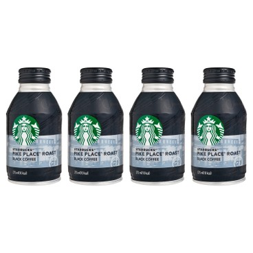 STARBUCKS - Pike Place Roast Black Coffee - 275MLX4