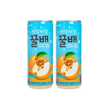 LOTTE - HONEY PEAR DRINK - 240MLX2