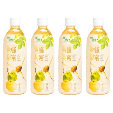 MR. JUICY - Honey Pear Juice Drink - 500MLX4