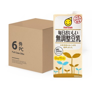 丸山 - 無基因改造無調製豆乳-原箱 - 1LX6
