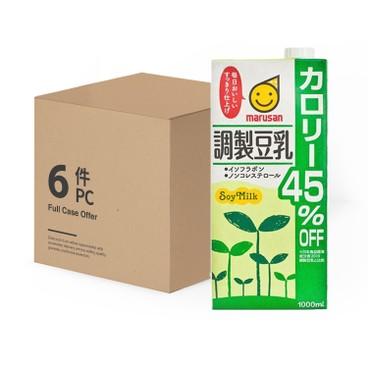 丸山 - 減45%卡路里調製豆乳-原箱 - 1LX6