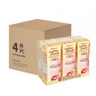 BINGGRAE - Lychee Peach Milk case Offer - 200MLX6X4