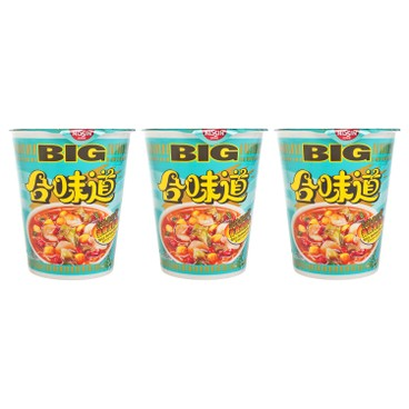 NISSIN - Big Cup Noodle spicy Seafood - 103GX3