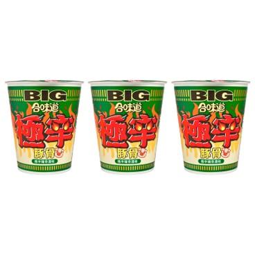 NISSIN - Big Cup Noodle extra Spicy Tonkotsu - 107GX3
