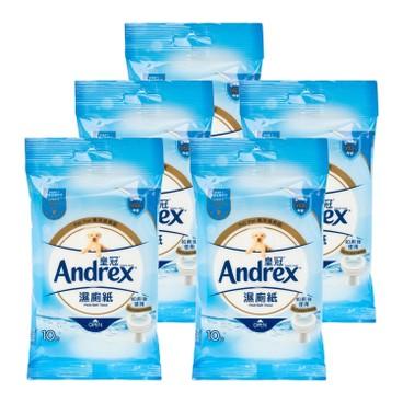 ANDREX - Moist Bath Tissue 5 pc - 10'SX5