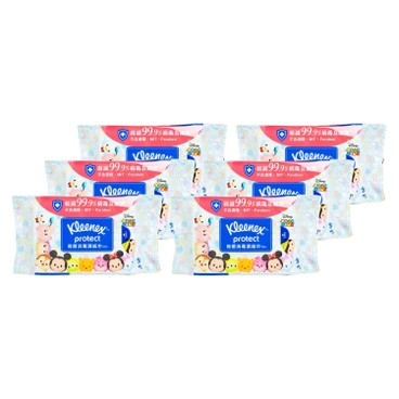 健力氏 - 迪士尼TSUM TSUM 殺菌消毒濕紙巾 - 6件裝 - 50'SX6