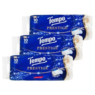 TEMPO - Prestige Printed Bathroom Tissue 4 Ply neutral 3 pc - 10'SX3