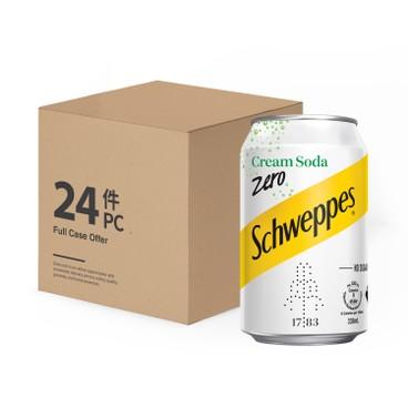 Schweppes - Cream Soda Zero full Case - 330MLX24