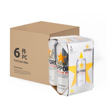 SAPPORO 七寶札幌 - 啤酒 - 巨罐(原箱) - 500MLX4X6