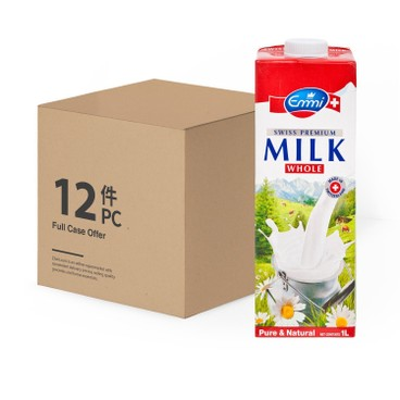 EMMI 伊美 - 瑞士特級牛奶-原箱 - 1LX12