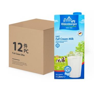 德國歐德堡 - 全脂牛奶-原箱 - 1LX12