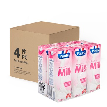 PAULS - Skim Milk case Offer - 250MLX6X4