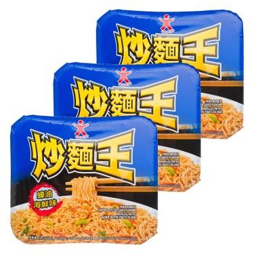 公仔 - 炒麵王-蠔油海鮮味 - 118GX3