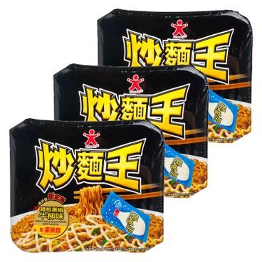 公仔 - 炒麵王-鐵板黑椒牛柳味 - 117GX3