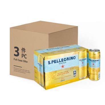 聖沛黎洛 - 有氣天然礦泉水檸檬味-原箱 - 330MLX8X3