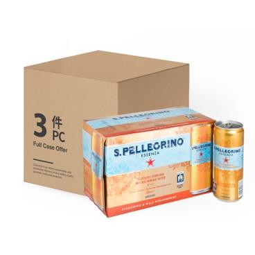聖沛黎洛 - 有氣天然礦泉水柑橘野莓味-原箱 - 330MLX8X3