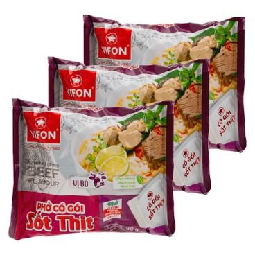 VIFON - Vietnamese Pho beef Flavor With Beef Sauce - 80GX3