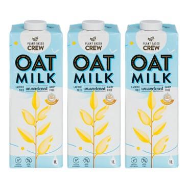 PLANT-BASED CREW - Oat Milk Unsweetened - 1LX3