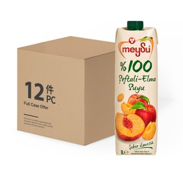 MEYSU - 100% PEACH-APPLE JUICE-CASE OFFER - 1LX12