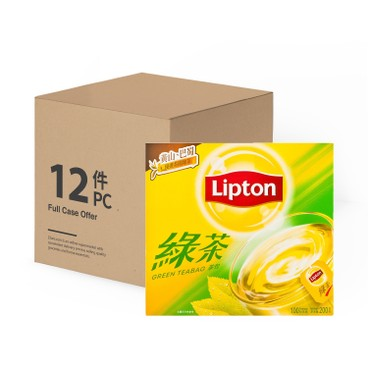 LIPTON - Asian Tea Green Teabag case Offer - 2GX100X12