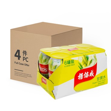 YEO'S - Sugar Cane Drink case Offer - 300MLX6X4