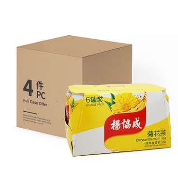YEO'S - Chrysanthemum Tea case Offer - 300MLX6X4