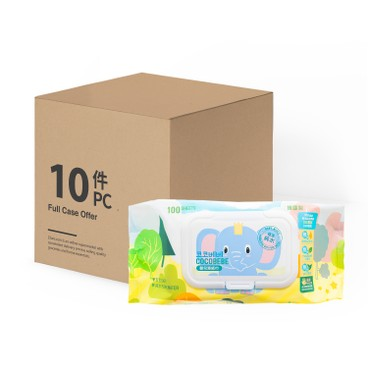 COCOBEBE - Elephant Baby Wet Wipes Case Offer - 100'SX10