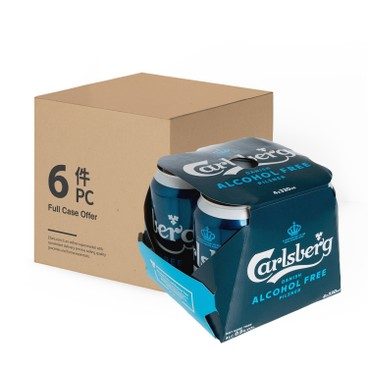 CARLSBERG - Alcohol Free Beer Can Pilsner Full Case - 330MLX4X6