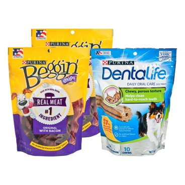 BEGGIN STRIPS - Beggin Bacon Dentalife Combo - 6OZ+7OZX2