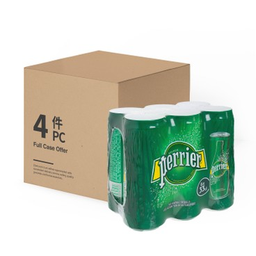 PERRIER(PARALLEL IMPORT) - Carbonated Natural Mineral Water can Case Offer - 330MLX6X4
